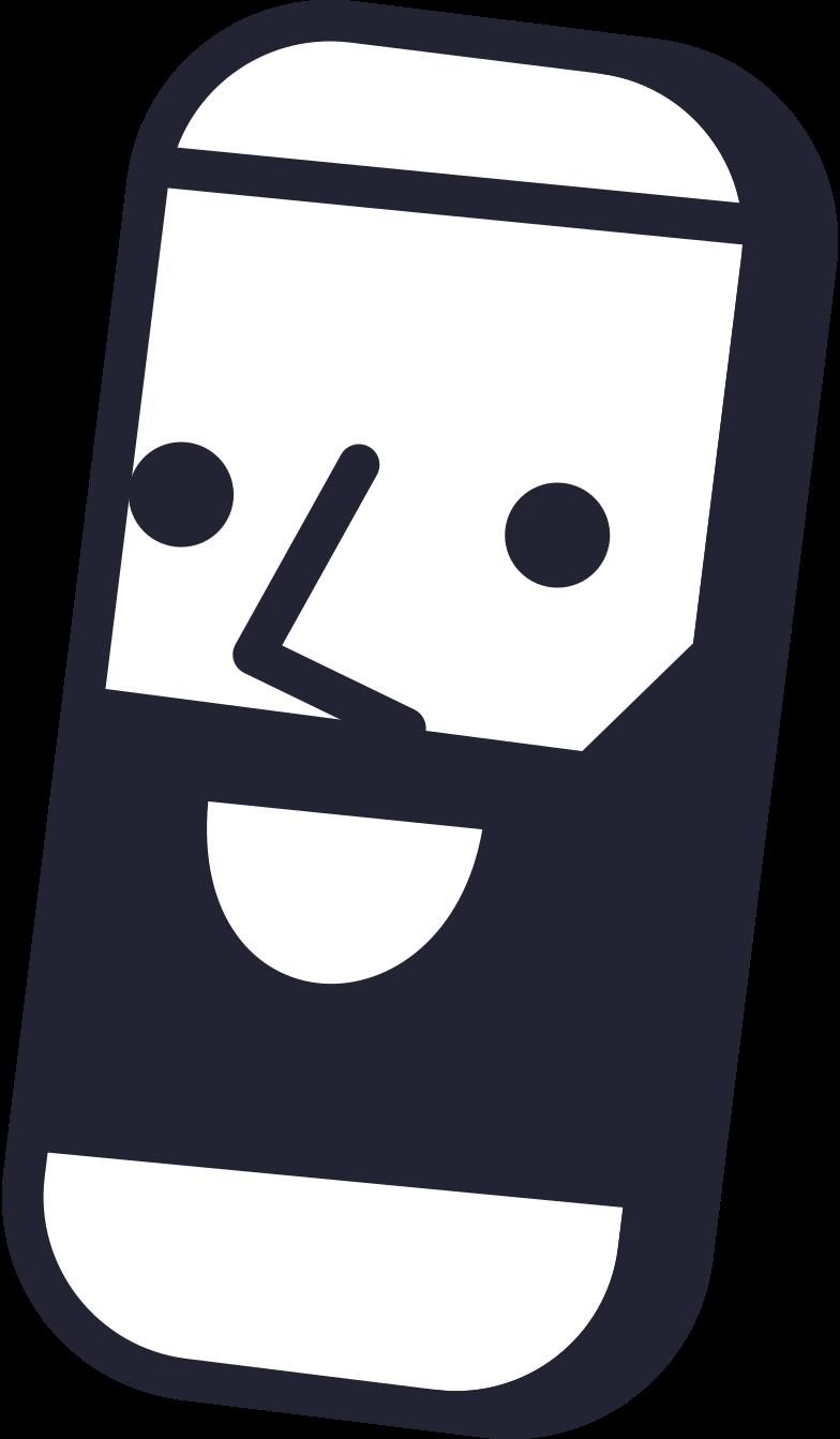 blogging  phone man Clipart illustration in PNG, SVG
