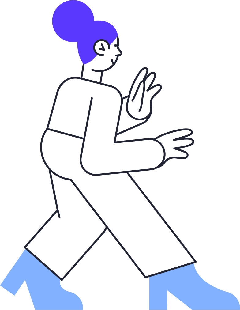 woman from the back Clipart illustration in PNG, SVG