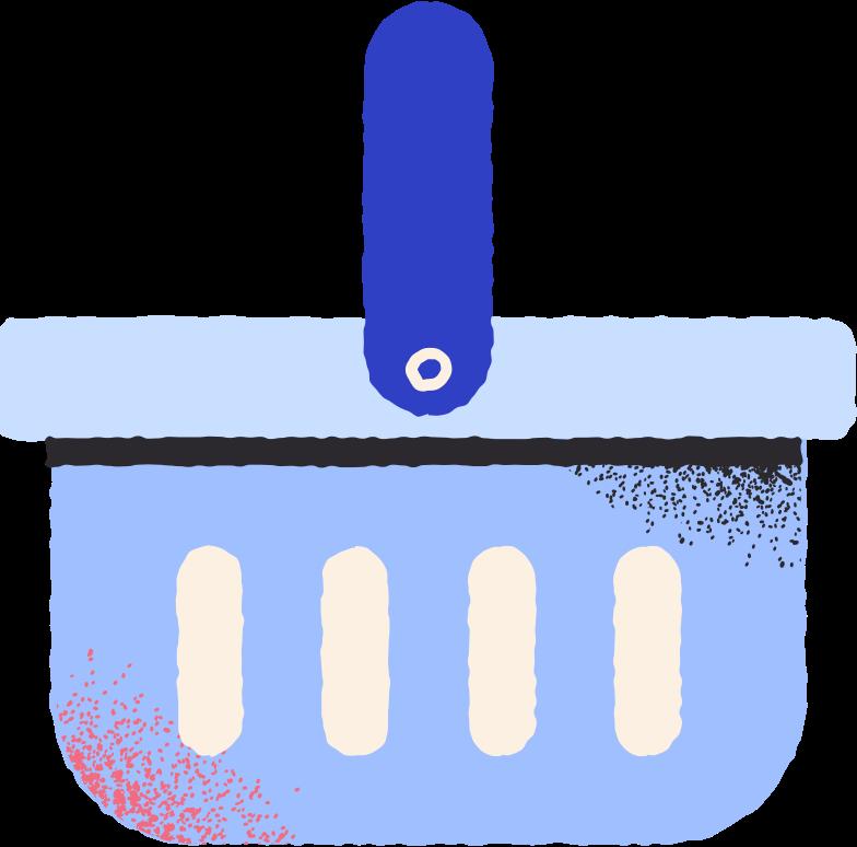 food basket Clipart illustration in PNG, SVG