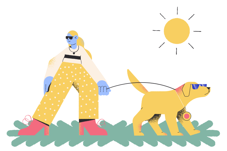 style Dog walking Vector images in PNG and SVG | Icons8 Illustrations