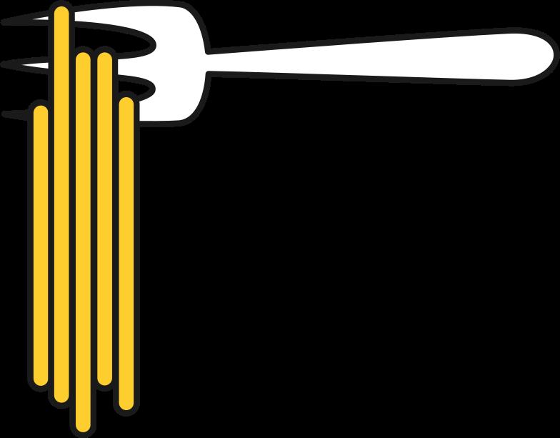 fork with noodles Clipart illustration in PNG, SVG