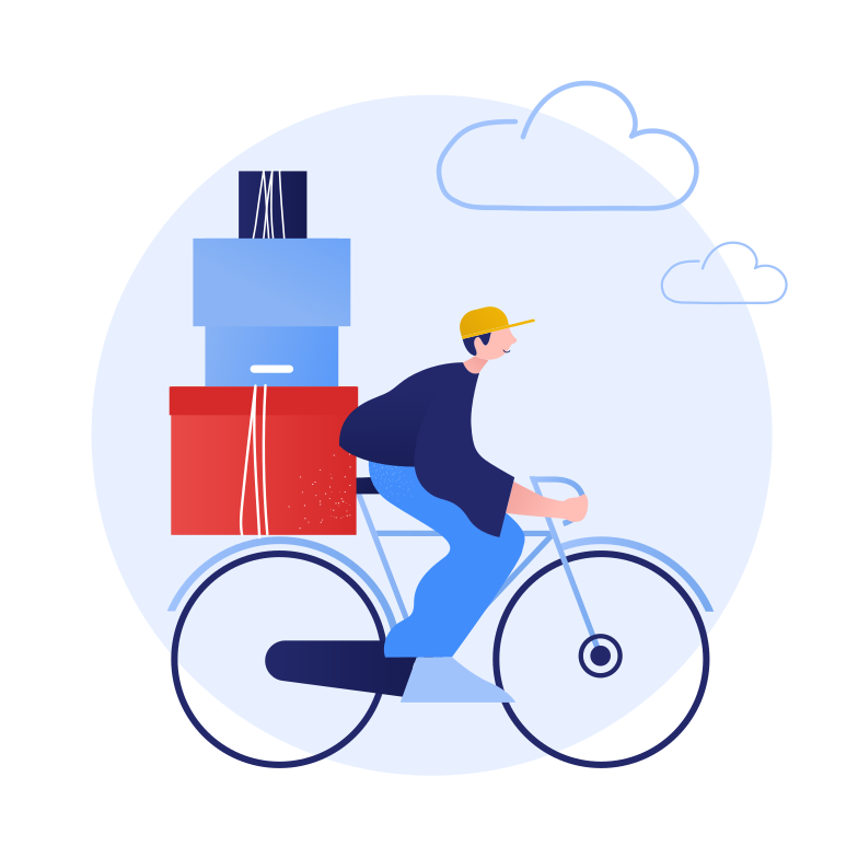 Eco friendly delivery Clipart illustration in PNG, SVG