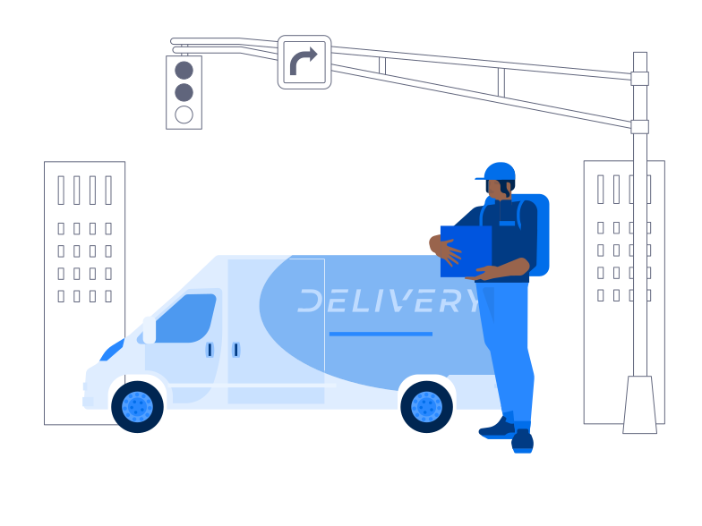 Courier Delivery Clipart illustration in PNG, SVG
