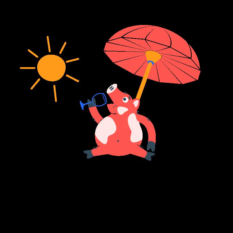 Summer wine Clipart illustration in PNG, SVG