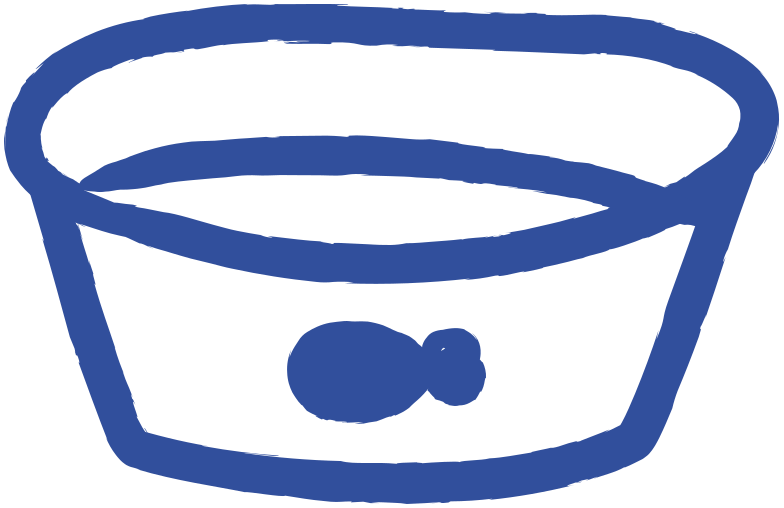 cat bowl Clipart illustration in PNG, SVG