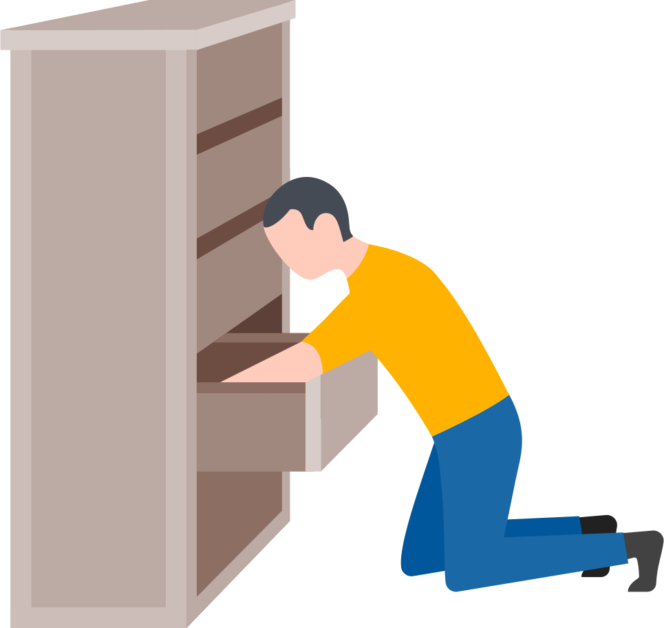 style man searching in the drawer Vector images in PNG and SVG   Icons8 Illustrations