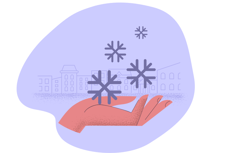 Snowy weather Clipart illustration in PNG, SVG