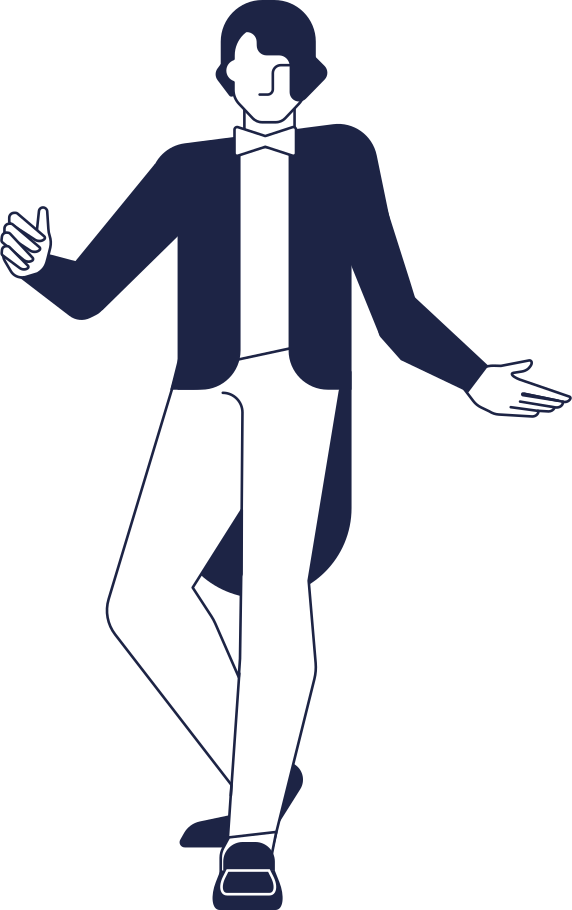 style man inviting line Vector images in PNG and SVG | Icons8 Illustrations