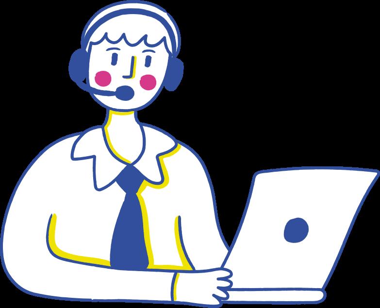support man Clipart illustration in PNG, SVG