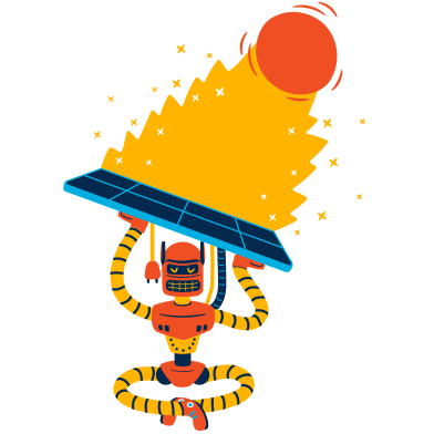 style Solar energy charging images in PNG and SVG | Icons8 Illustrations