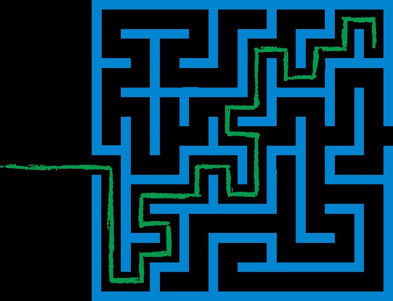 green path maze Clipart-Grafik als PNG, SVG