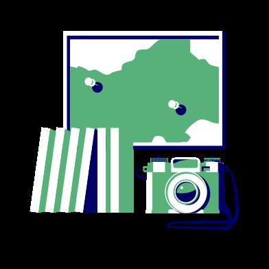 Иллюстрация Путешествовать в стиле  в PNG и SVG | Icons8 Иллюстрации
