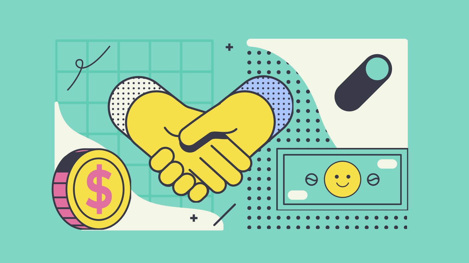 Клипарт Бизнес сделка в PNG и SVG