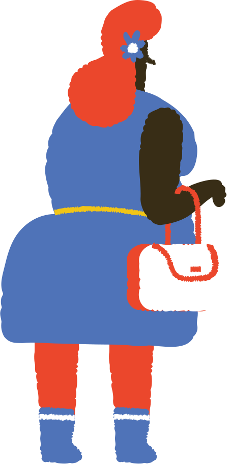 woman with handbag Clipart illustration in PNG, SVG