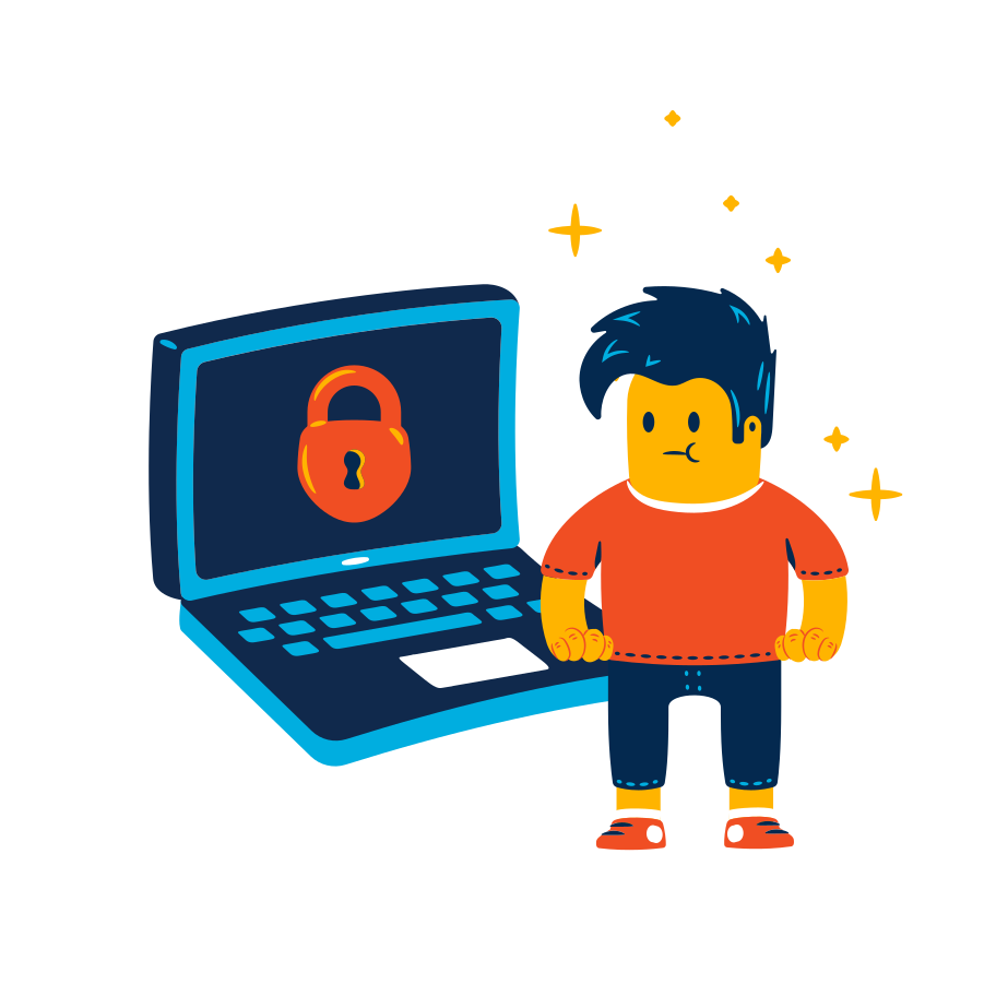Secure access Clipart illustration in PNG, SVG