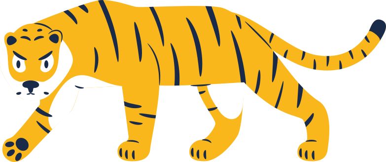 style tiger walking Vector images in PNG and SVG | Icons8 Illustrations