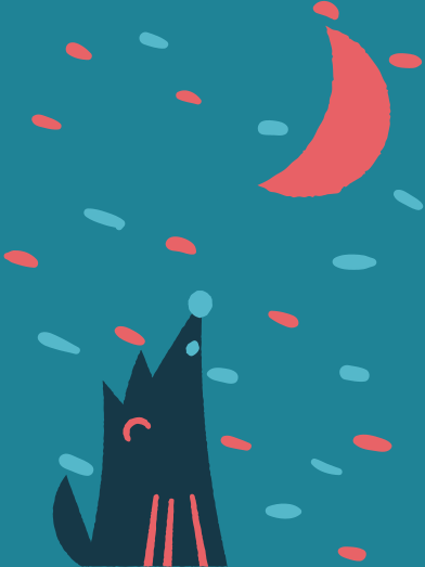 style Wolf and moon images in PNG and SVG | Icons8 Illustrations