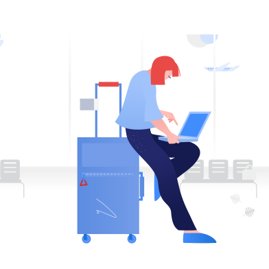 style Working from airport images in PNG and SVG | Icons8 Illustrations