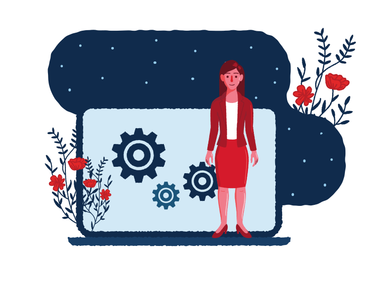 Business for women Clipart illustration in PNG, SVG