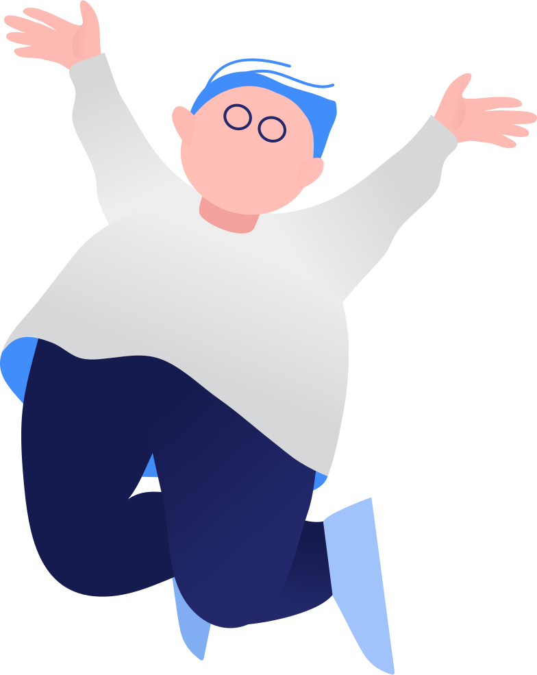 fat boy jumping Clipart illustration in PNG, SVG