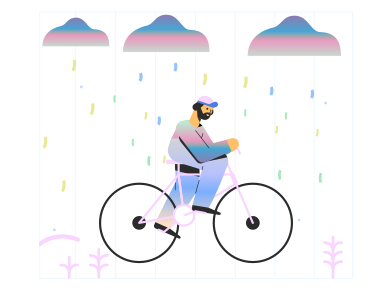style Biking in the rain images in PNG and SVG | Icons8 Illustrations