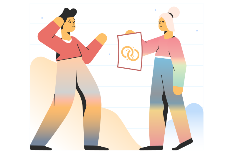 Divorce Clipart illustration in PNG, SVG