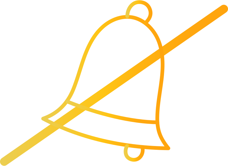 bell crossed out Clipart illustration in PNG, SVG