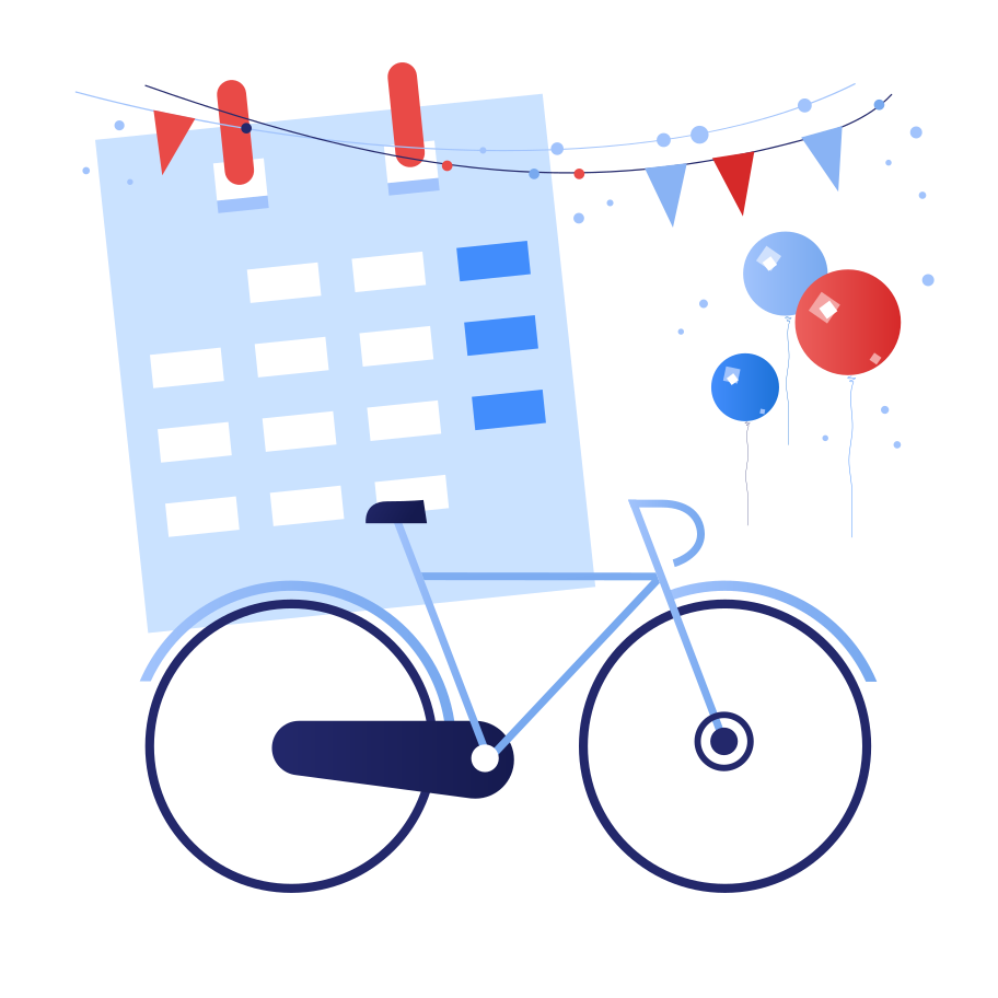 International bicycle day Clipart illustration in PNG, SVG