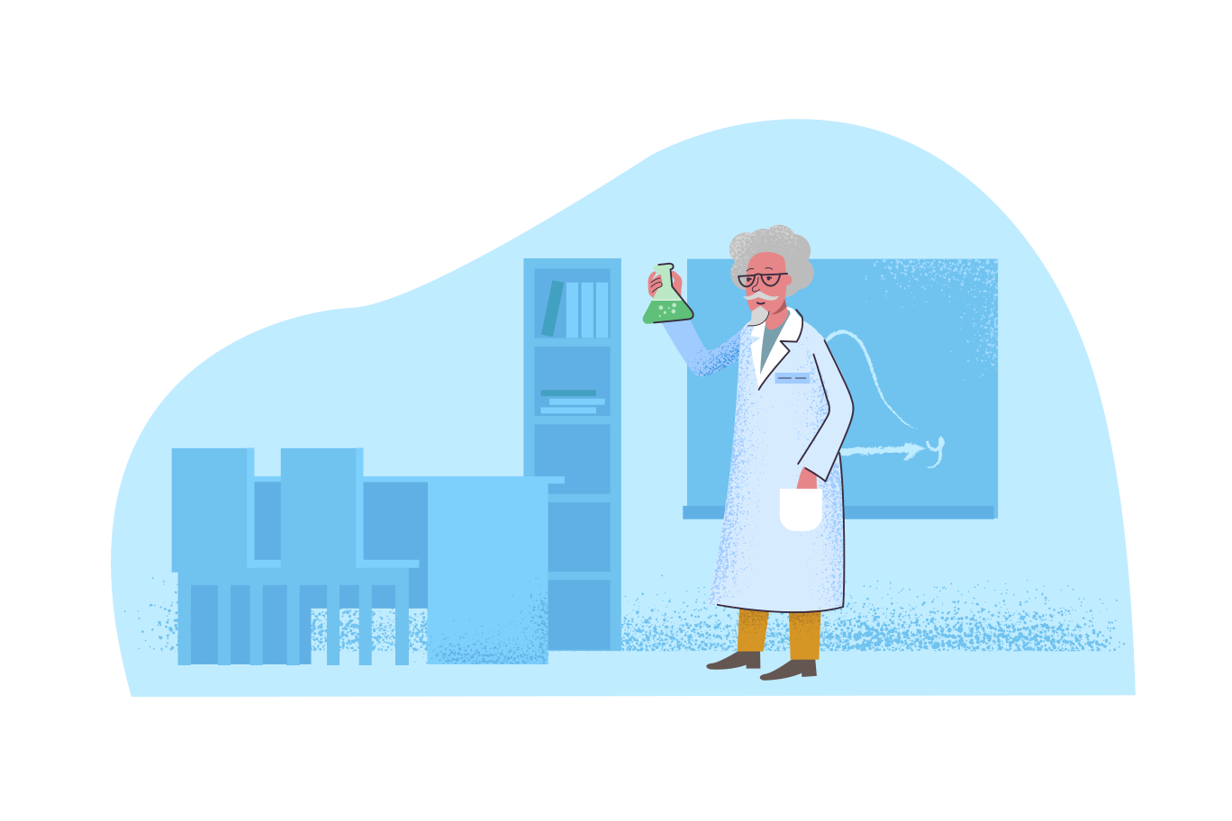 Scientific research Clipart illustration in PNG, SVG