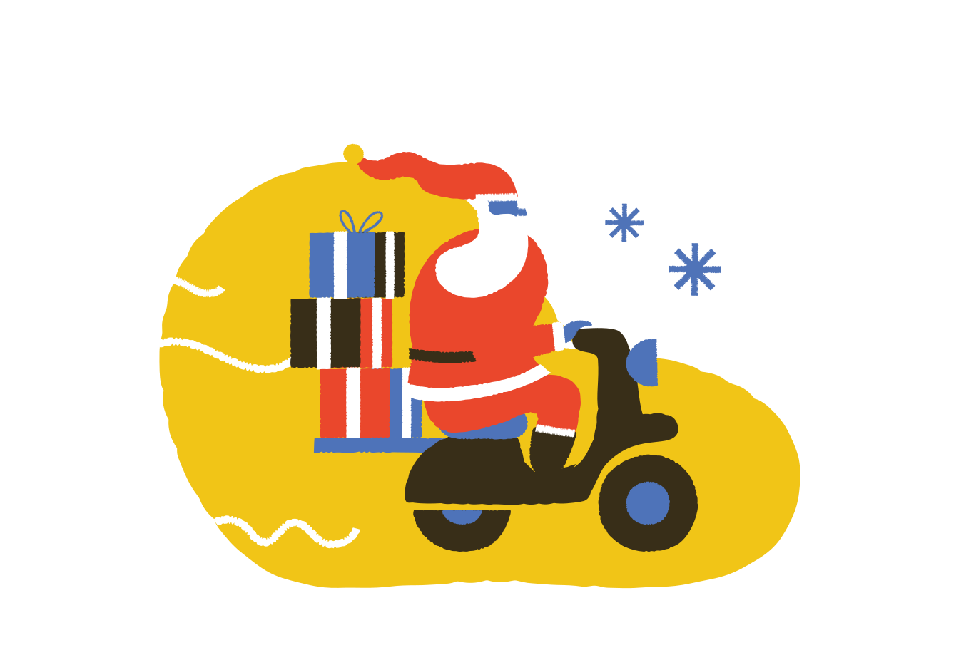 Christmas gifts delivery  Clipart illustration in PNG, SVG