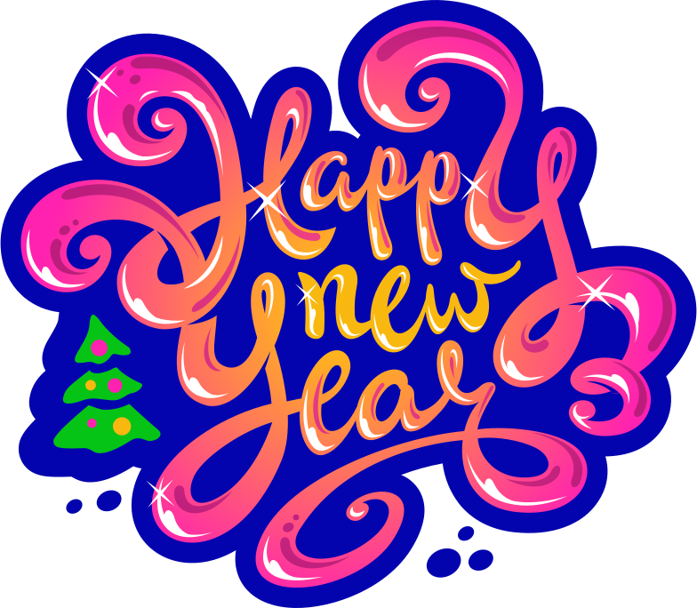 style happy new year Vector images in PNG and SVG | Icons8 Illustrations