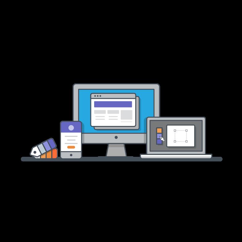 UX/UI design Clipart illustration in PNG, SVG