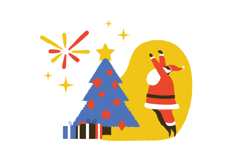 It's Christmas time! Clipart illustration in PNG, SVG
