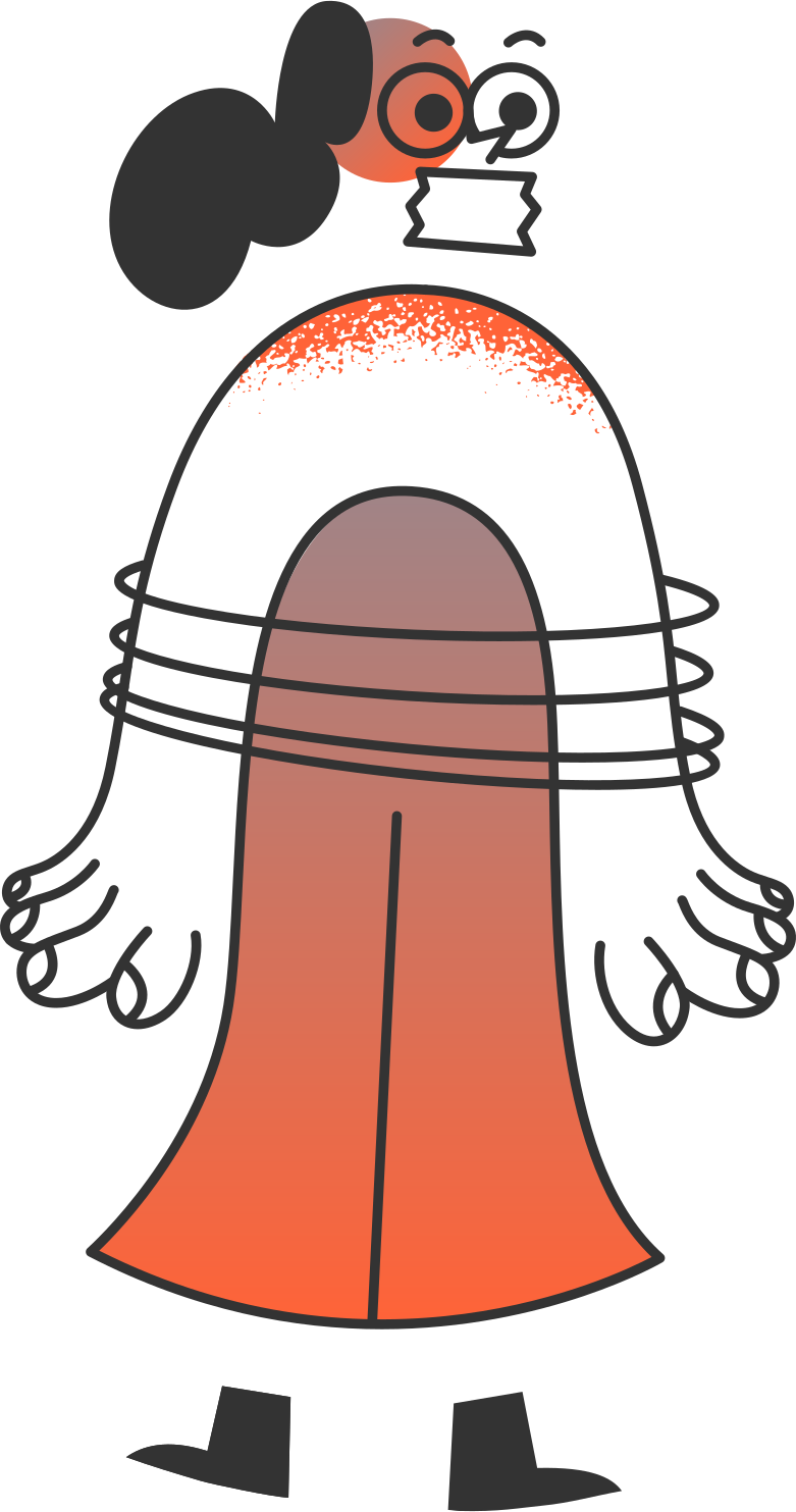 delete confirmation 2  girl with ropes Clipart illustration in PNG, SVG