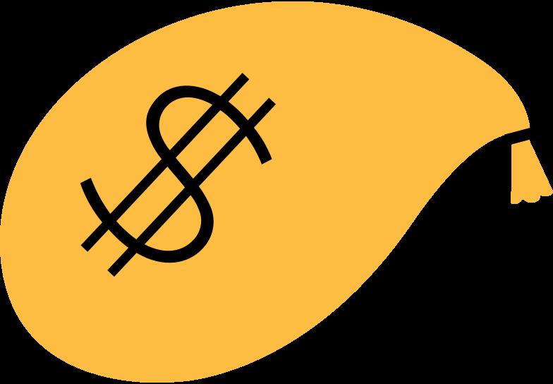 money-bag Clipart illustration in PNG, SVG