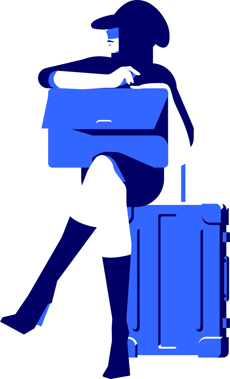 style woman with a suitcase Vector images in PNG and SVG | Icons8 Illustrations