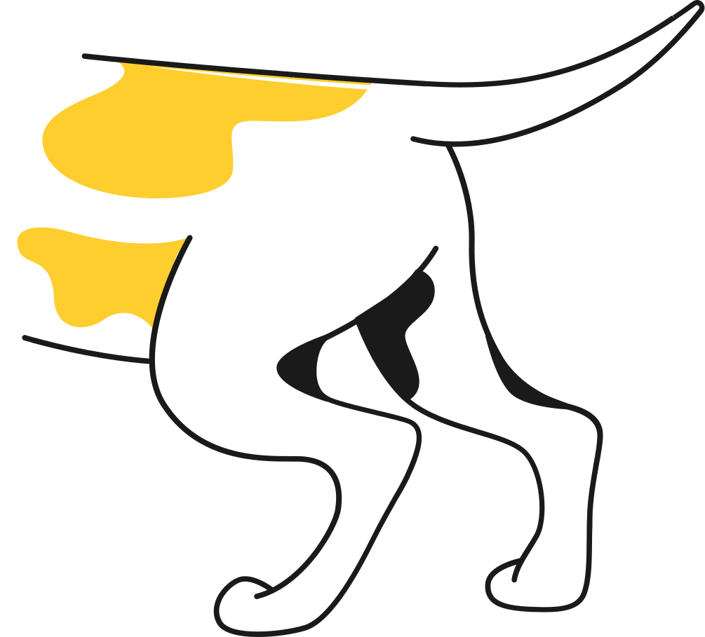 dog butt Clipart illustration in PNG, SVG