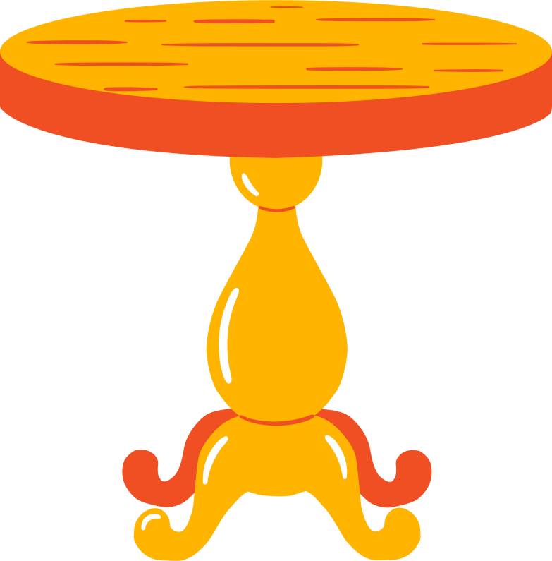 tea table Clipart illustration in PNG, SVG