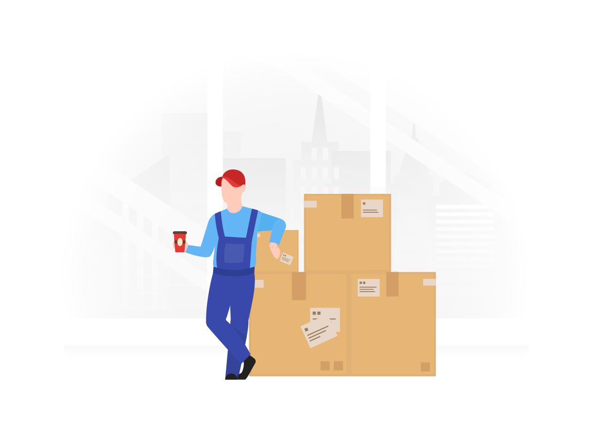 Ilustración de clipart de trabajador de almacenamiento en PNG, SVG
