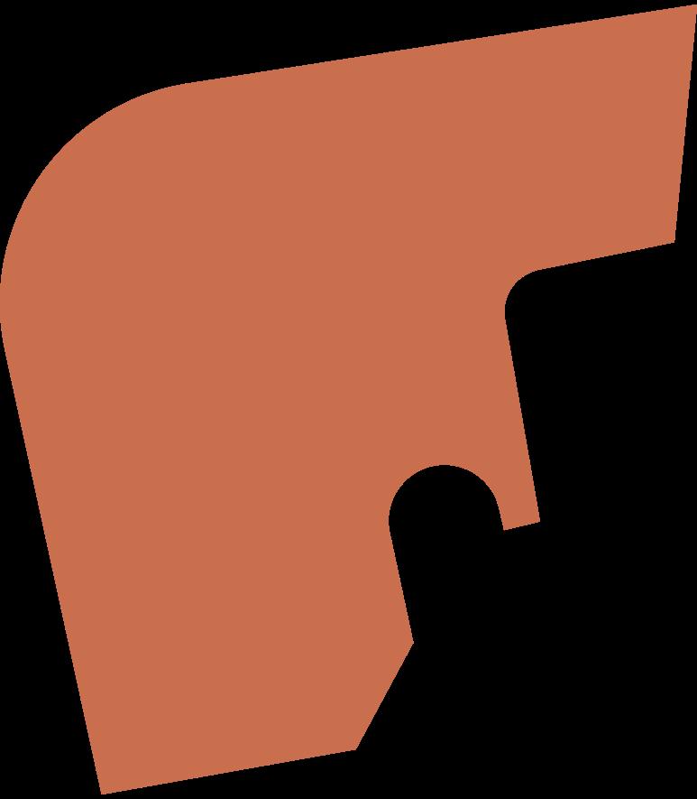 short sharp hair back Clipart illustration in PNG, SVG