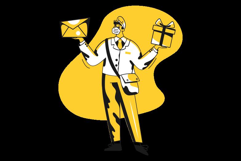 Postman, bring me a letter Clipart illustration in PNG, SVG