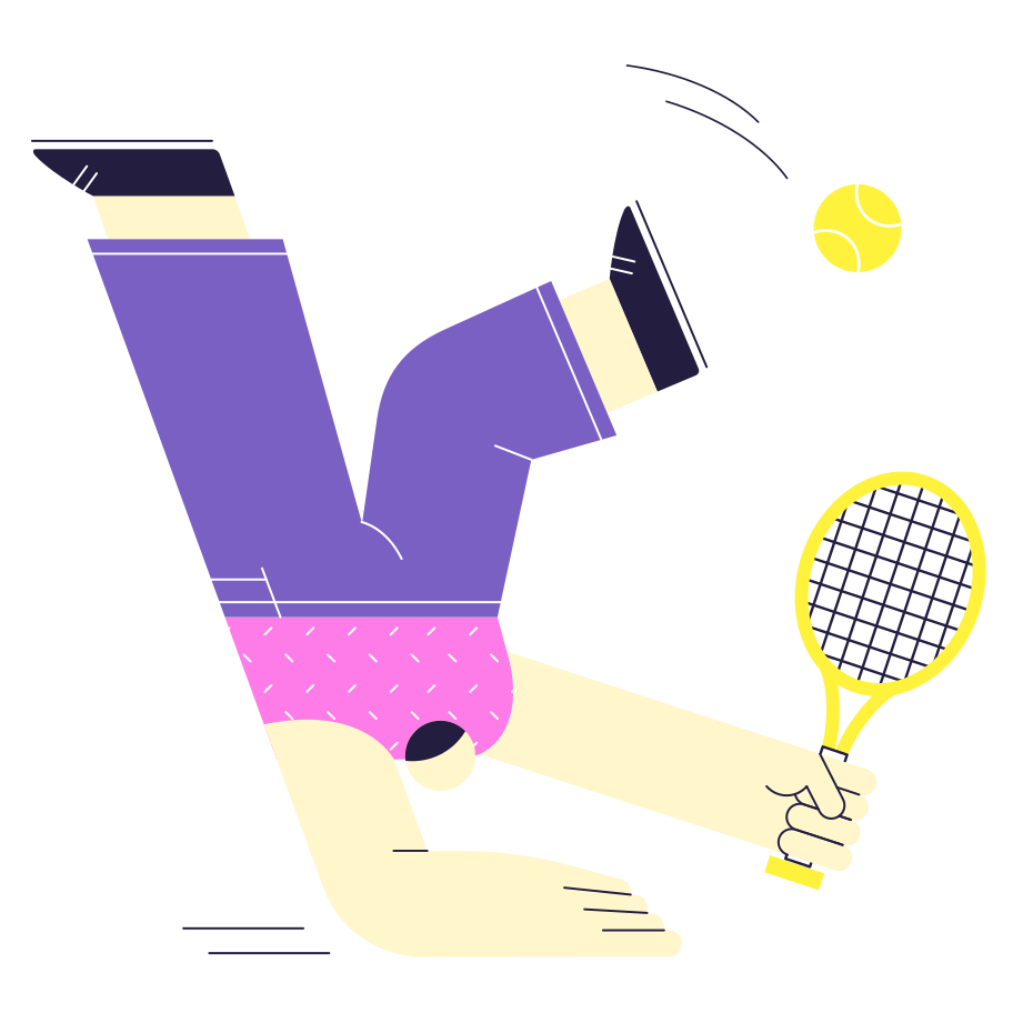 I'm catching it! Clipart illustration in PNG, SVG