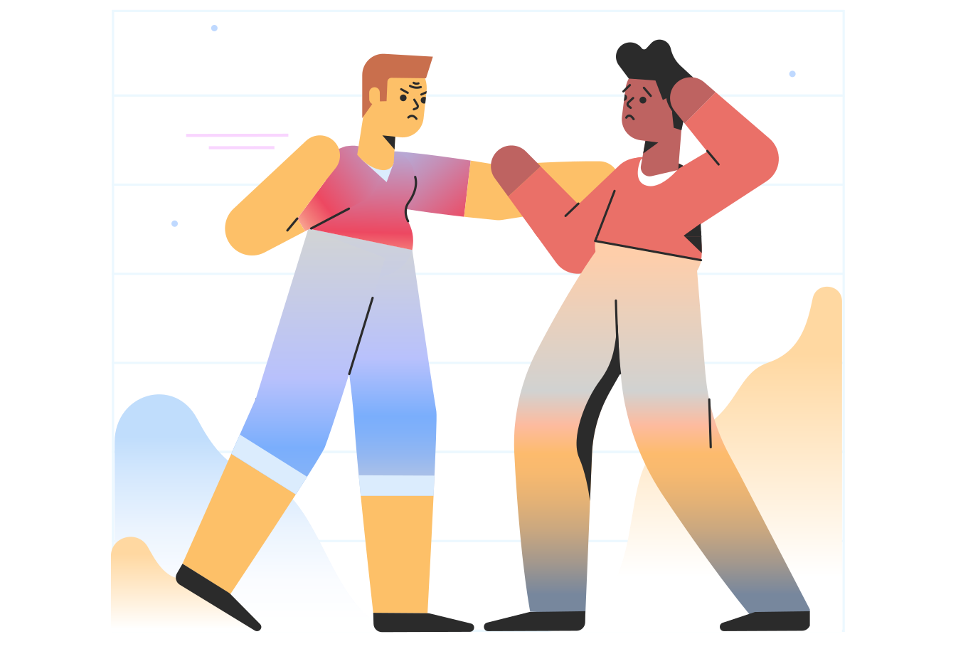 Fighting Clipart illustration in PNG, SVG