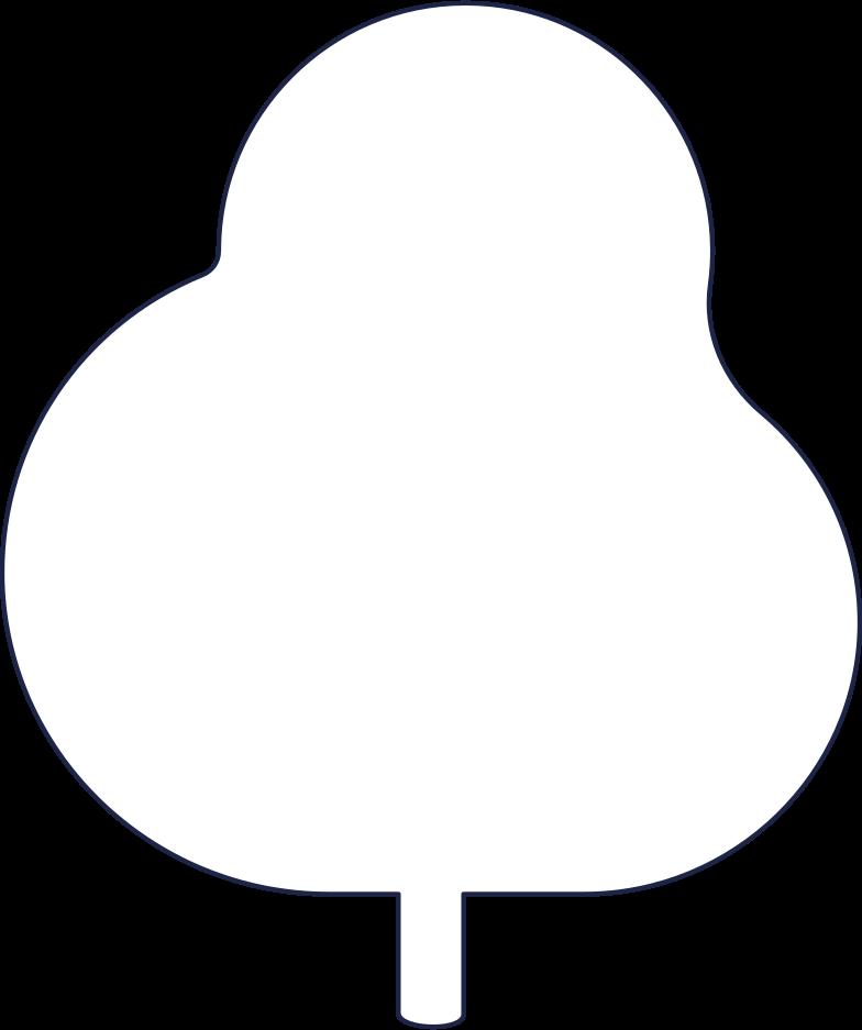 tree 1 line Clipart illustration in PNG, SVG