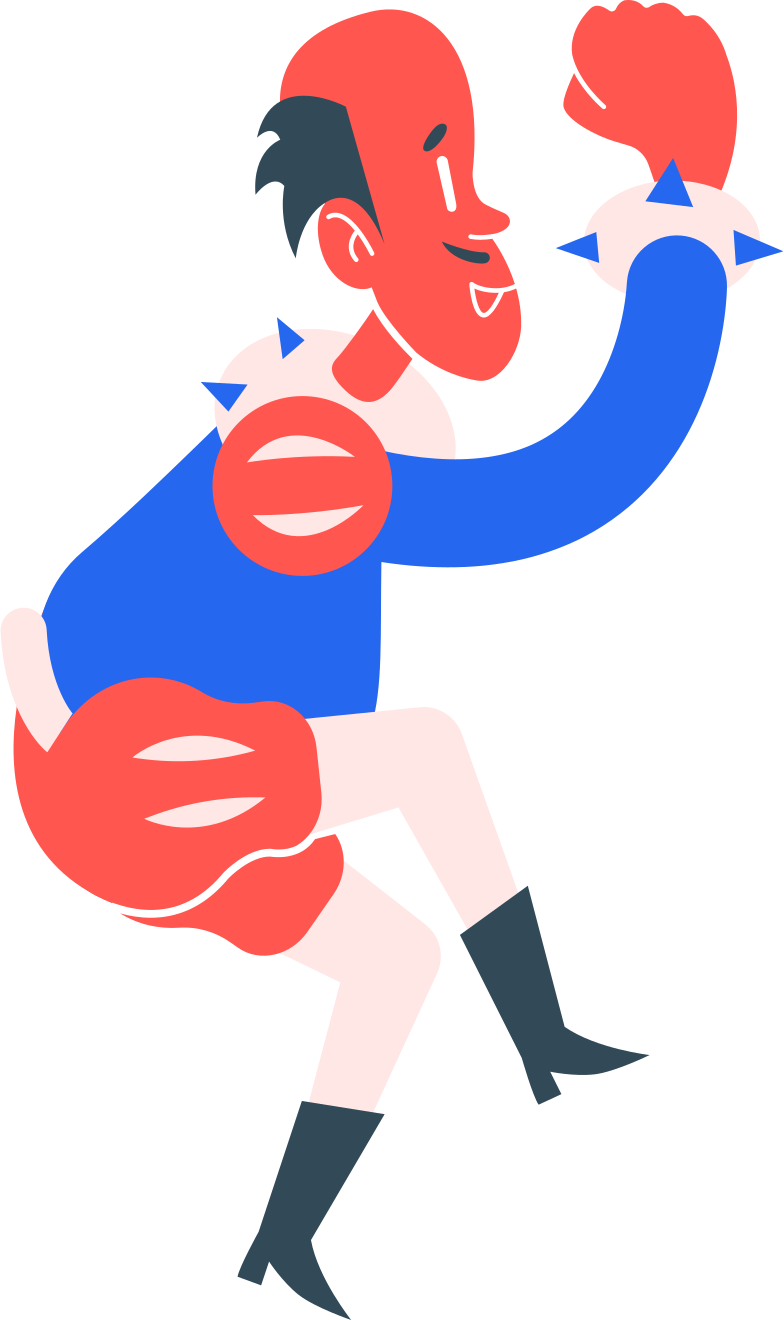 man jumping Clipart illustration in PNG, SVG