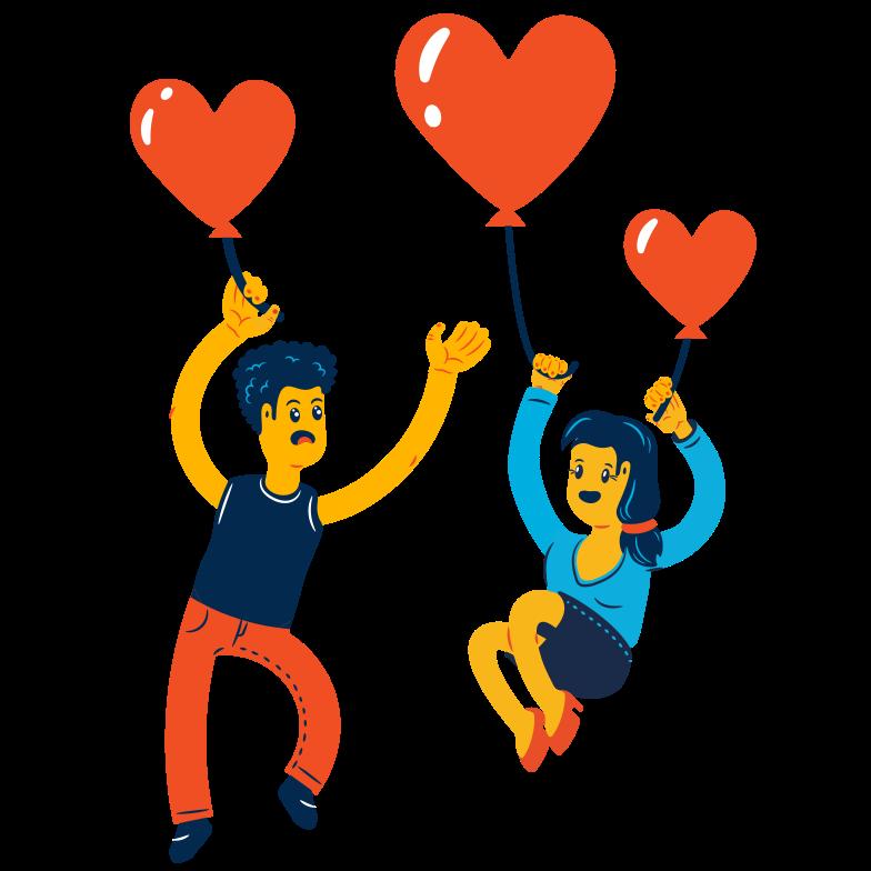 L'amore è nell'aria Illustrazione clipart in PNG, SVG