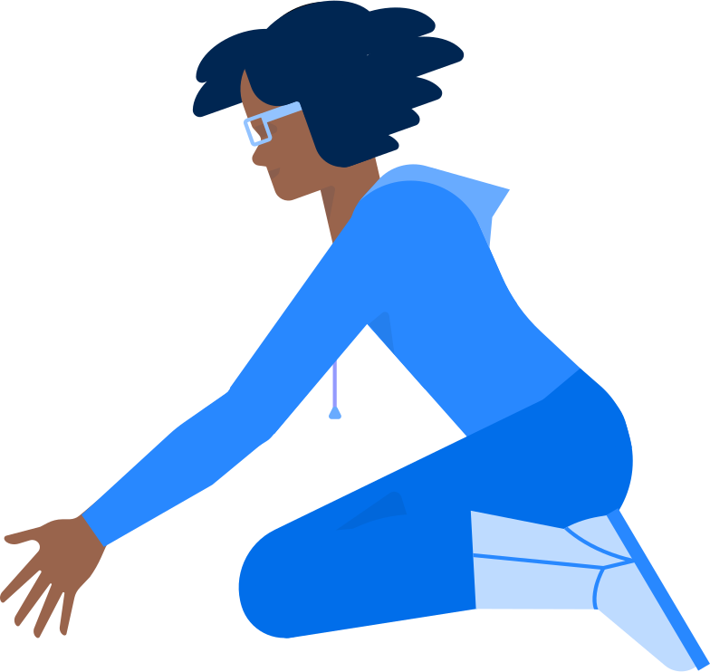 woman sitting and picking Clipart-Grafik als PNG, SVG