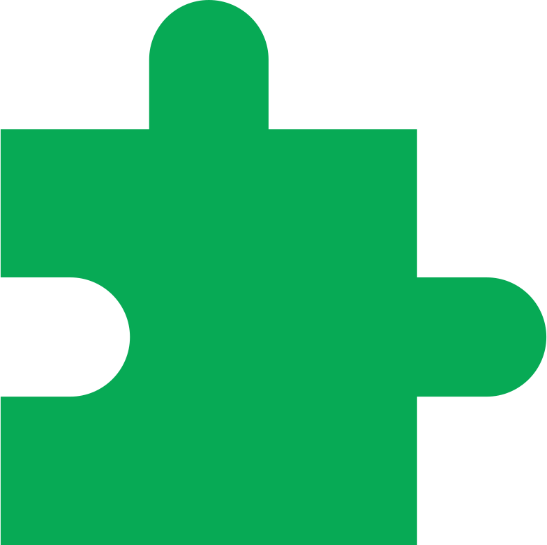 puzzle piece dark green Clipart illustration in PNG, SVG