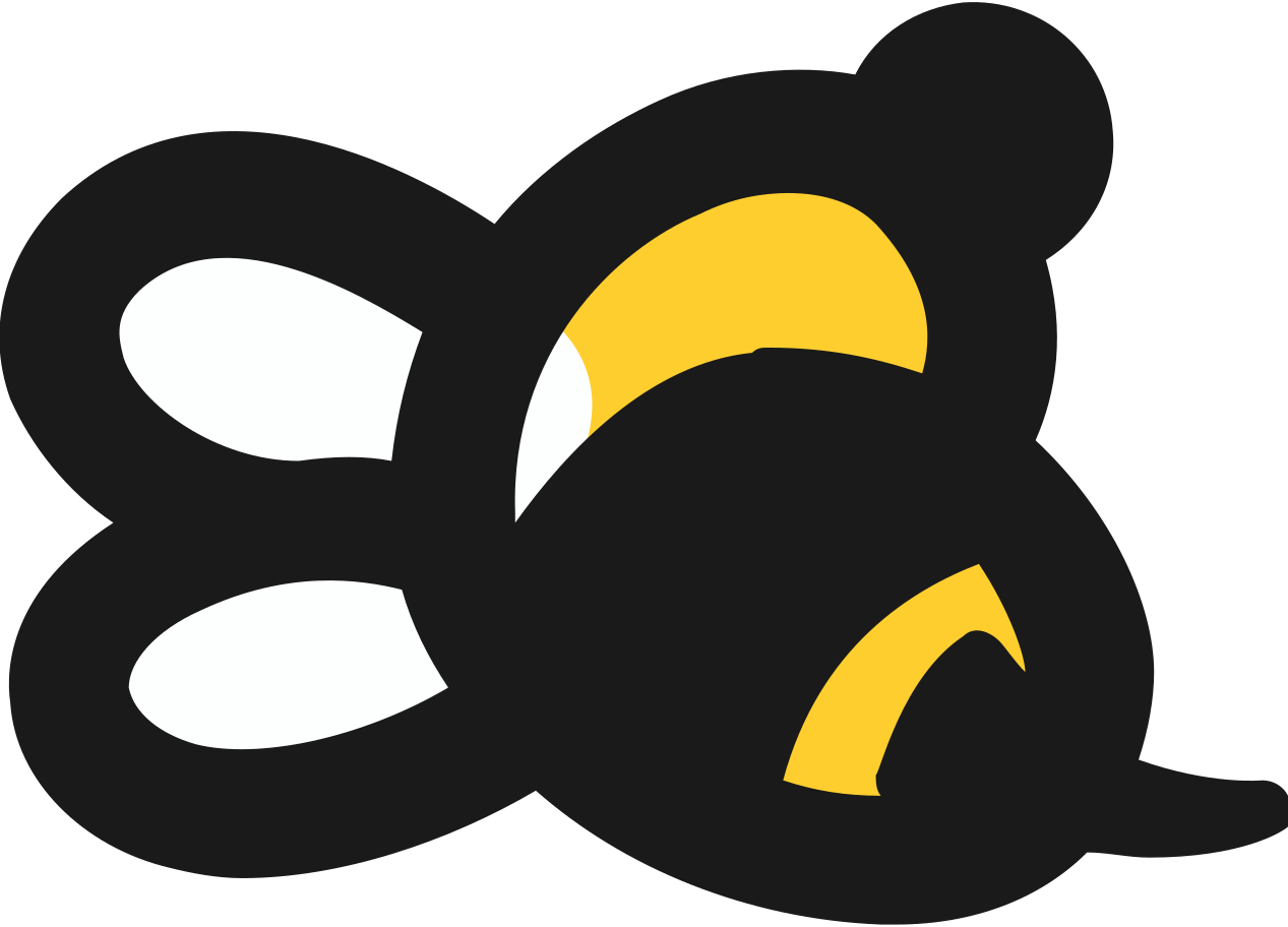small bee Clipart illustration in PNG, SVG