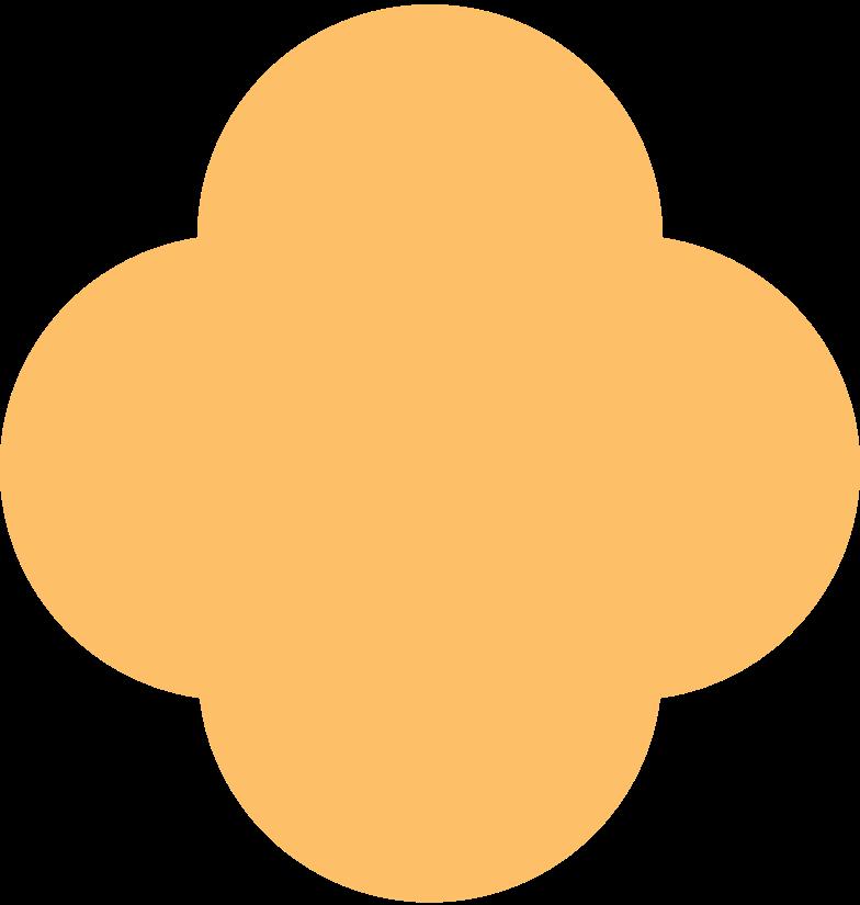 quatrefoil orange Clipart illustration in PNG, SVG